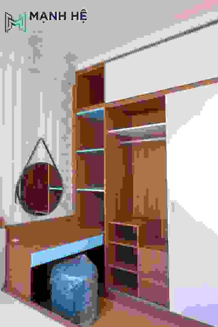 Sản xuất nhiều ô kệ, tủ nhỏ bên trong tủ quần áo để dễ dàng sắp xếp đồ dùng với nhiều kích thước bởi Công ty TNHH Nội Thất Mạnh Hệ Hiện đại
