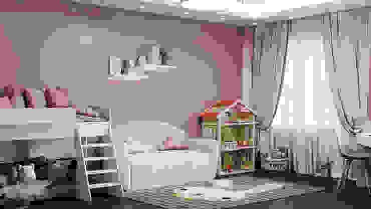 ANDO Kamar tidur anak perempuan Pink