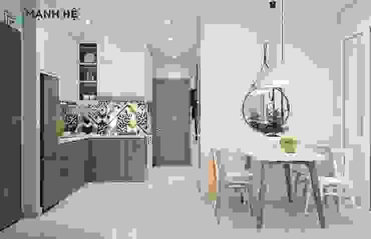 Phòng bếp: hiện đại  by Công ty TNHH Nội Thất Mạnh Hệ, Hiện đại Bê tông