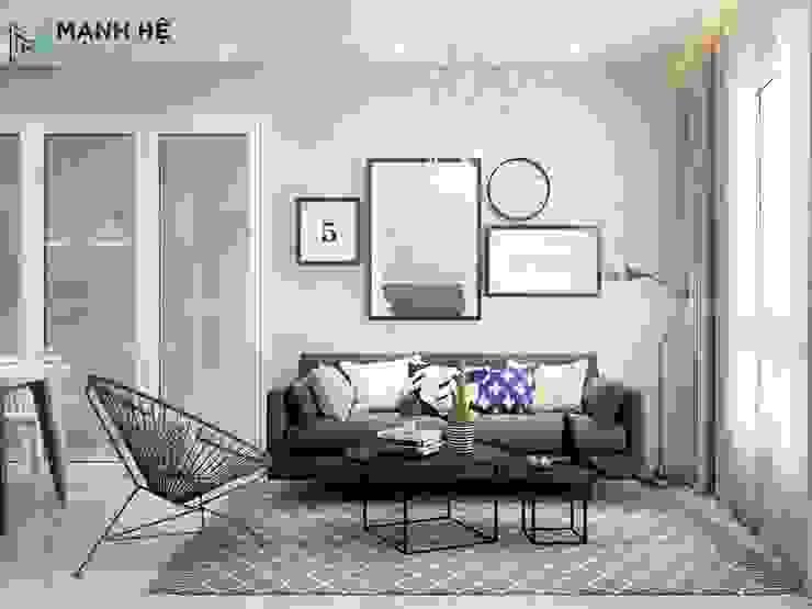 Ghế sofa phòng khách: hiện đại  by Công ty TNHH Nội Thất Mạnh Hệ, Hiện đại Cao su