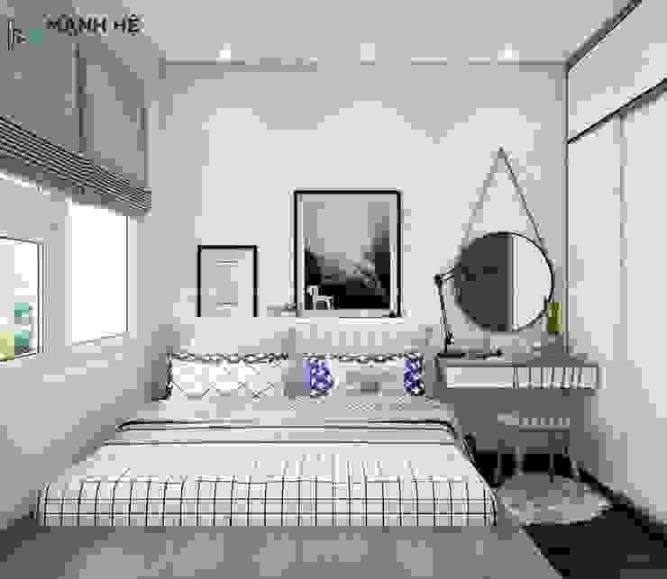 phòng ngủ nhỏ: hiện đại  by Công ty TNHH Nội Thất Mạnh Hệ, Hiện đại