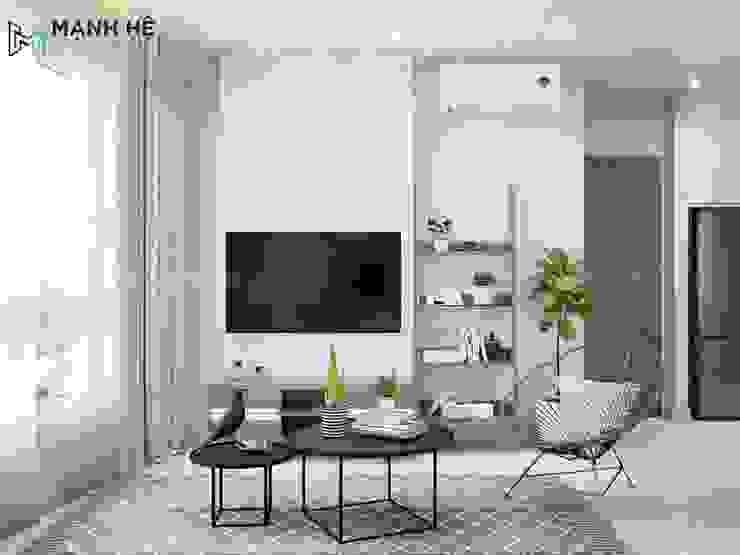 kệ tivi phòng khách: hiện đại  by Công ty TNHH Nội Thất Mạnh Hệ, Hiện đại