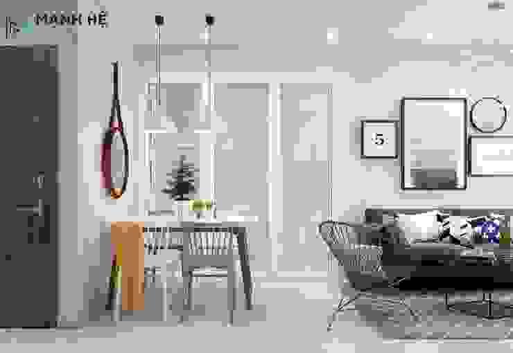 phòng bếp liền phòng khách: hiện đại  by Công ty TNHH Nội Thất Mạnh Hệ, Hiện đại