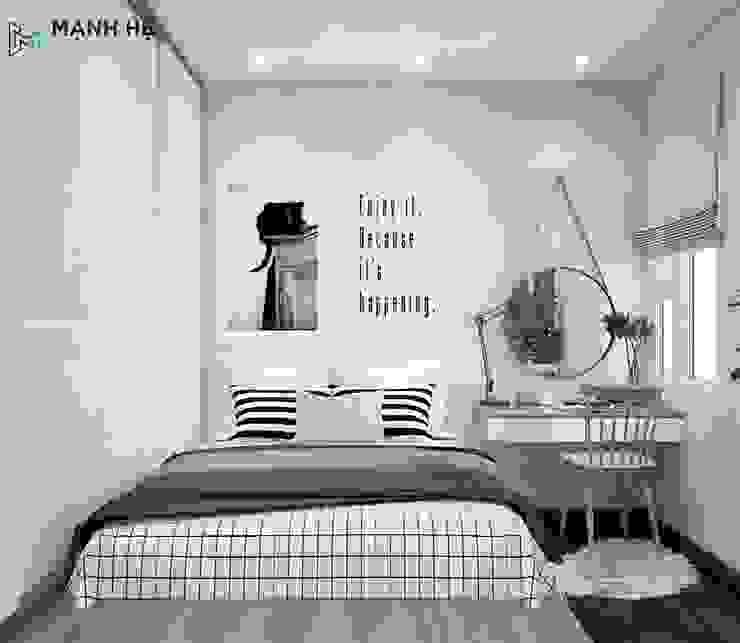 phòng ngủ master: hiện đại  by Công ty TNHH Nội Thất Mạnh Hệ, Hiện đại