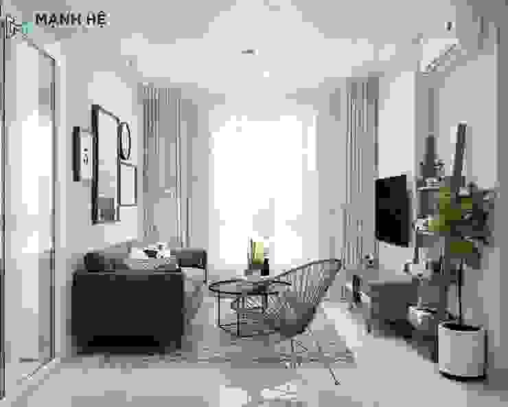 tổng quan phòng khách: hiện đại  by Công ty TNHH Nội Thất Mạnh Hệ, Hiện đại