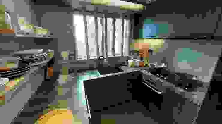 廚房,手工泥水窗花 根據 FNW(全港)一站式裝修材料 隨意取材風