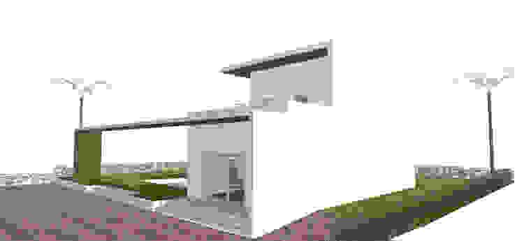 Dettaglio ingresso casa di antonio felicetti architettura & interior design Minimalista