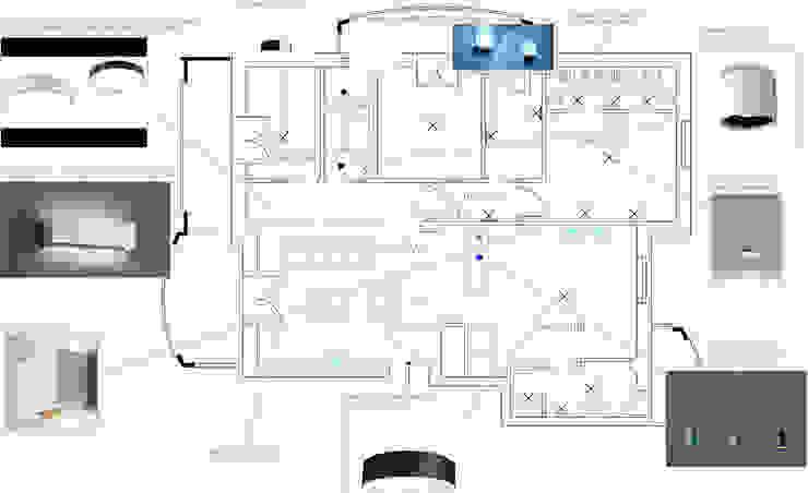 Schema dei corpi illuminanti di antonio felicetti architettura & interior design Moderno