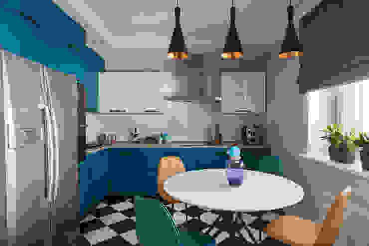 цвет + графика EERASHEVICH HOME Кухни в эклектичном стиле