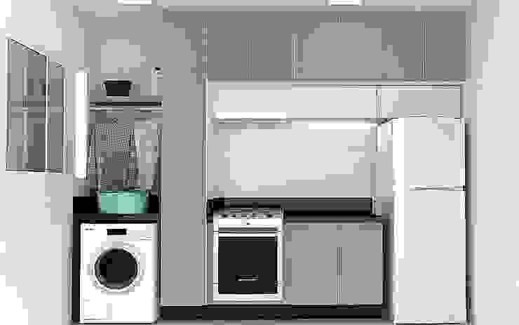 Cozinha integrada com Área de Serviço (compactas) por CrieAtive Arqdesign Moderno