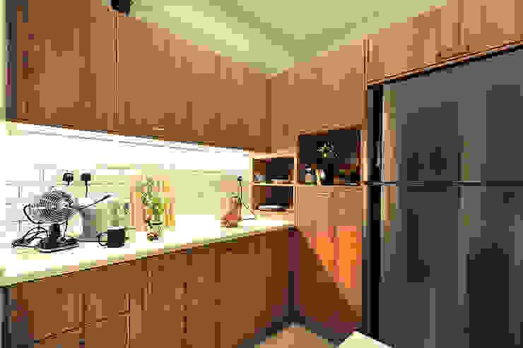 Productivity Projected @ The Zest, Kinrara 9 Condominium DCS CREATIVES SDN. BHD. Kitchen