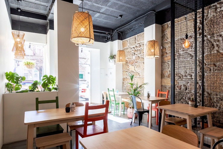 Qiarq . arquitectura+design Industrial style gastronomy Bamboo Beige