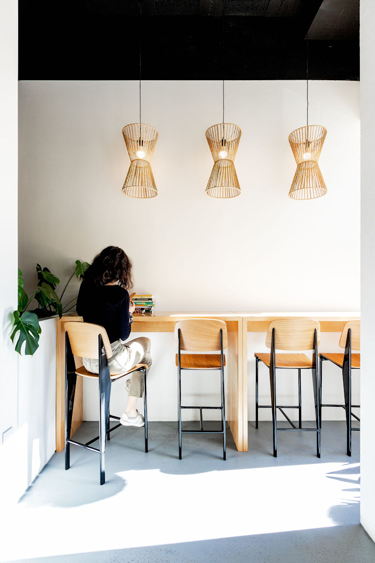 Qiarq . arquitectura+design Industrial style gastronomy Wood Wood effect