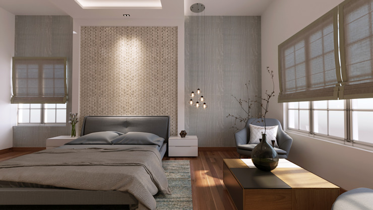 Master Bedroom De Panache Small bedroom Plywood White