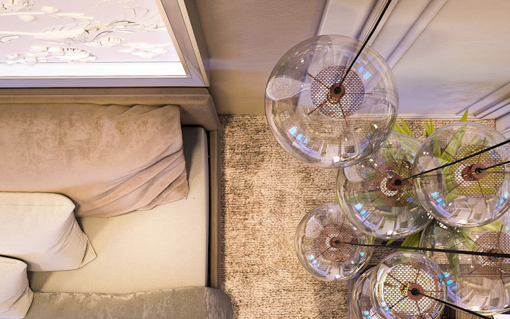 Living Room De Panache Modern living room Glass Beige