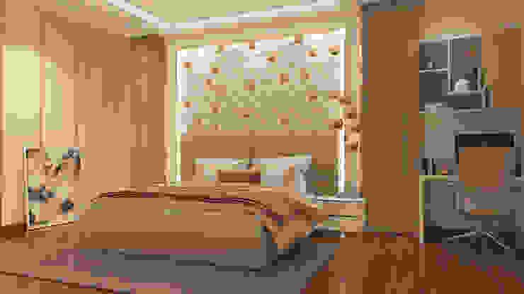 Master Bedroom De Panache Modern bathroom Plywood Beige