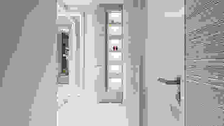 De Panache Koridor & Tangga Modern Marmer Beige