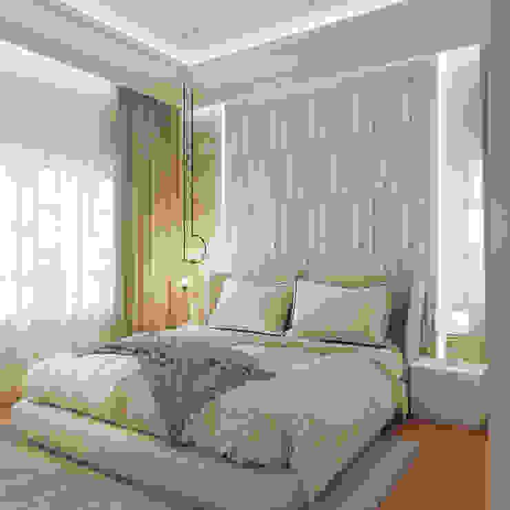 Guest Bedroom De Panache Small bedroom Plywood Beige