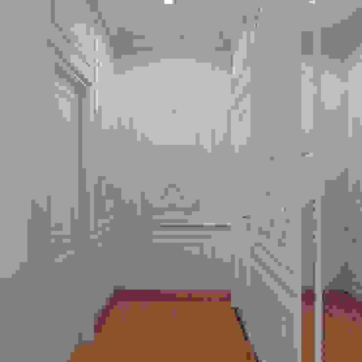 Guest Bedroom Hallway De Panache Modern corridor, hallway & stairs Plywood Beige