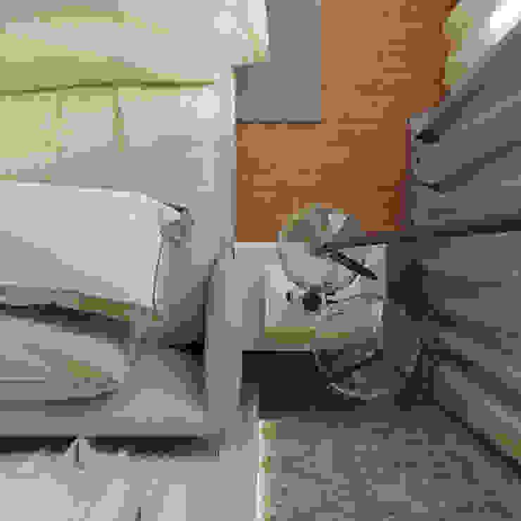 Guest Bedroom De Panache Small bedroom Glass Beige
