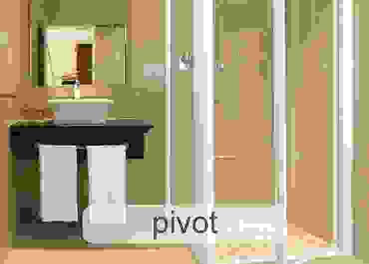 Aluminium Shower Door - Pivot style Modern bathroom by Origin Aluminium Group Holdings (Pty) Ltd Modern Aluminium/Zinc