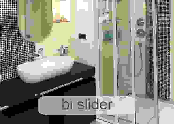 Aluminium Shower Door - Bi-Slider style Classic style bathroom by Origin Aluminium Group Holdings (Pty) Ltd Classic Aluminium/Zinc