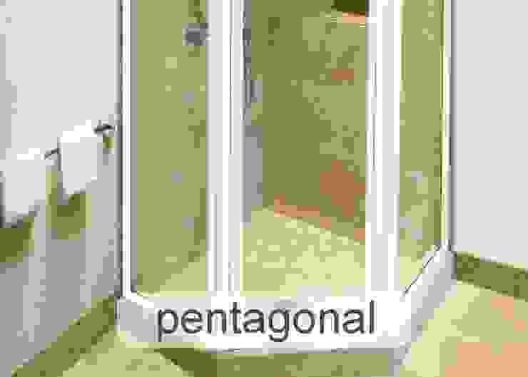 Aluminium Shower Door - Pentagonal style Modern bathroom by Origin Aluminium Group Holdings (Pty) Ltd Modern Aluminium/Zinc