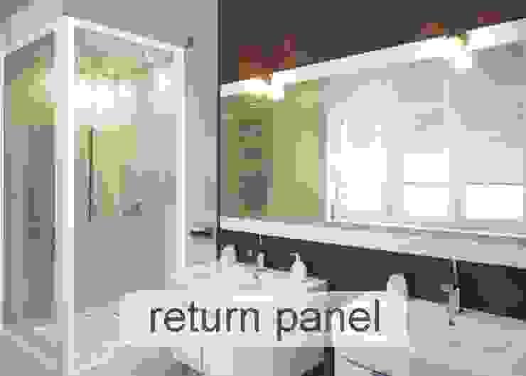 Aluminium Shower Door - Return Panel style Classic style bathroom by Origin Aluminium Group Holdings (Pty) Ltd Classic Aluminium/Zinc