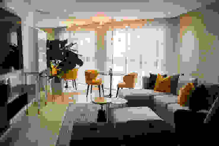 Area de salón Comedores de estilo moderno de Arq Renny Molina Moderno