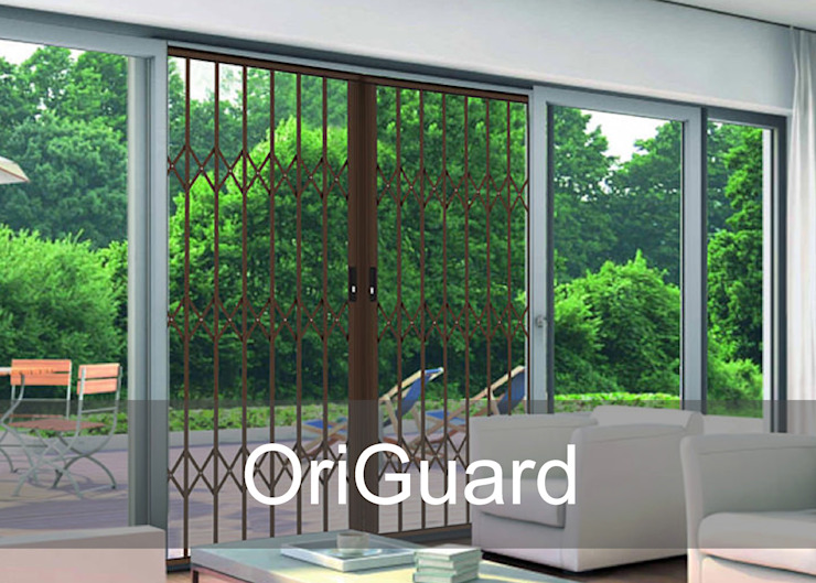 OriGuard Aluminium Retractable Security Gates Modern Terrace by Origin Aluminium Group Holdings (Pty) Ltd Modern Aluminium/Zinc
