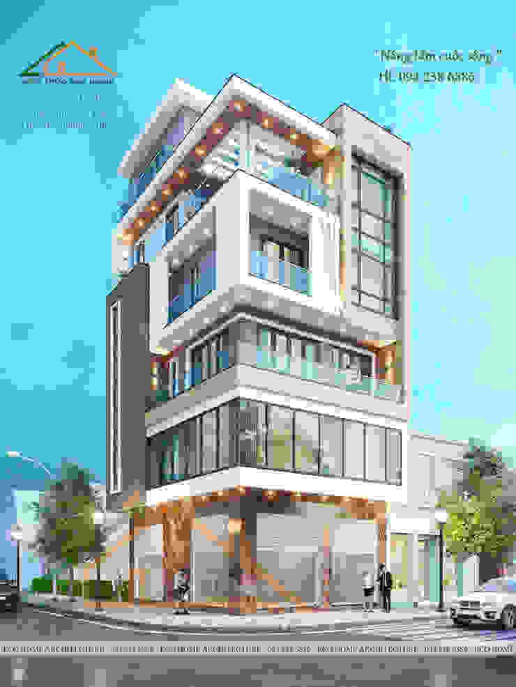 THIẾT KẾ NHÀ PHỐ 6 TẦNG CÓ THANG MÁY TẠI TP QUẢNG NINH bởi Công ty CP kiến trúc và xây dựng Eco Home