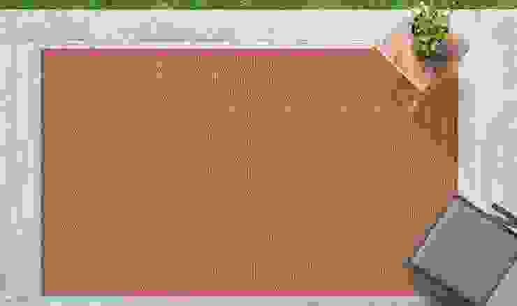 Tappeto outdoor Tatami Terracotta di Webtappeti Minimalista Tessuti Ambra/Oro