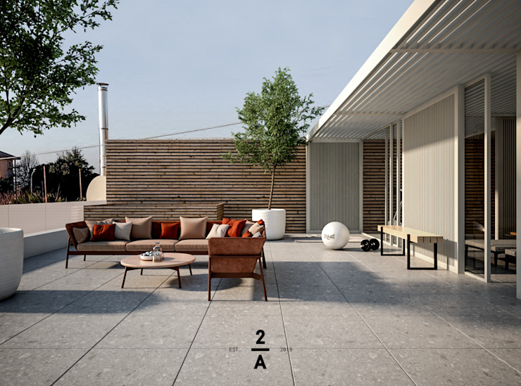 2A|architetti Modern Terrace