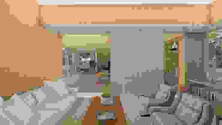 Salón Salas modernas de Cóncavas Ingenieros y Arquitectos Moderno