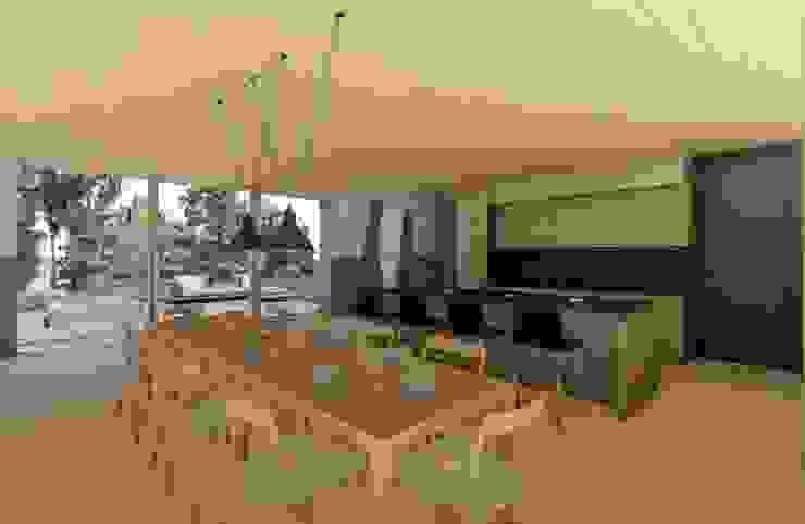 Comedor- Cocina Comedores de estilo moderno de Cóncavas Ingenieros y Arquitectos Moderno