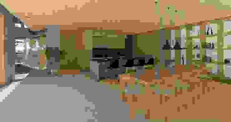 Comedor cocina desde salón Comedores de estilo moderno de Cóncavas Ingenieros y Arquitectos Moderno