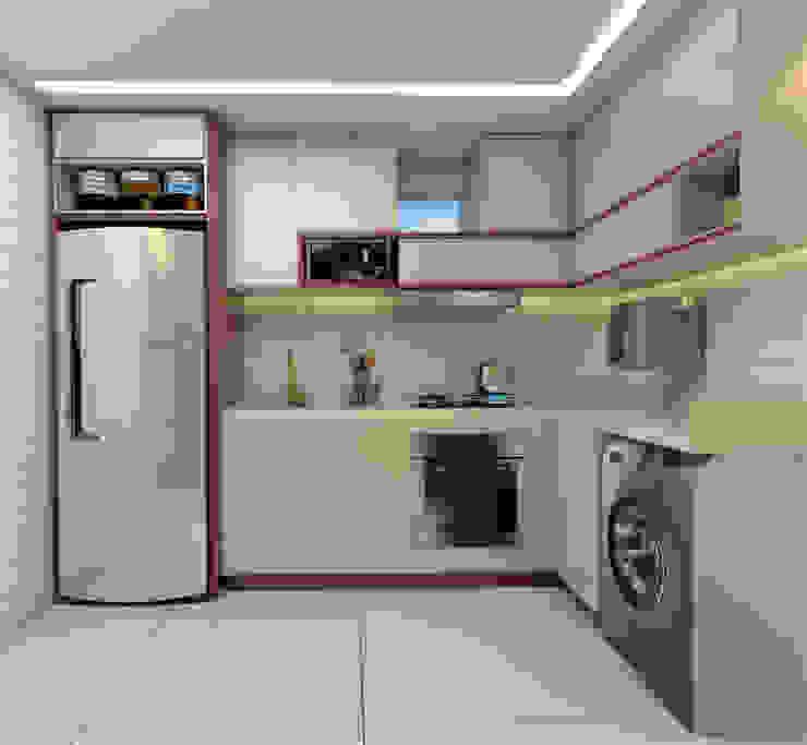 Projeto Cozinha com 8m² por ELOYZE DARLLA |ARQUITETURA Moderno Madeira Efeito de madeira