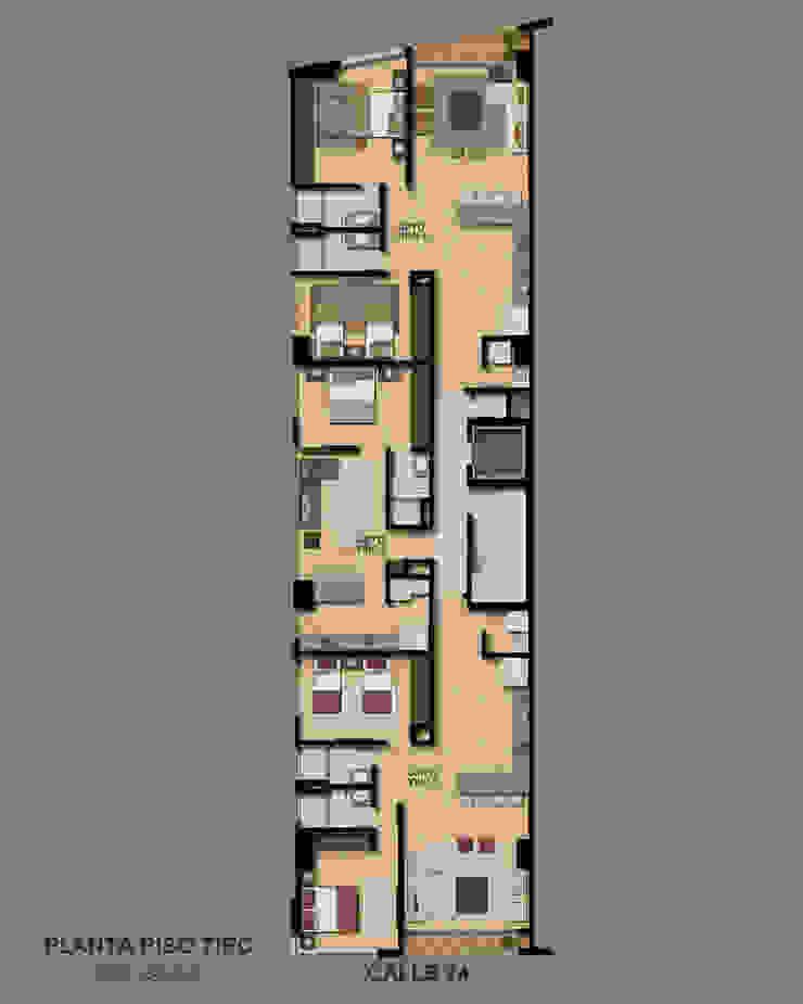 Edificio Almarú Rosales Habitaciones modernas de V&V Arquitectos SAS Moderno
