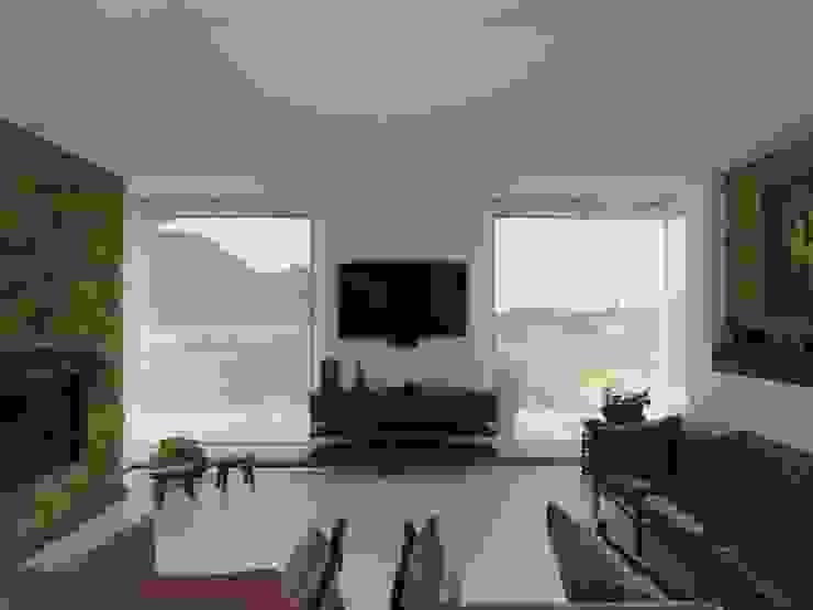 Casazul Salas de estilo rural de V&V Arquitectos SAS Rural