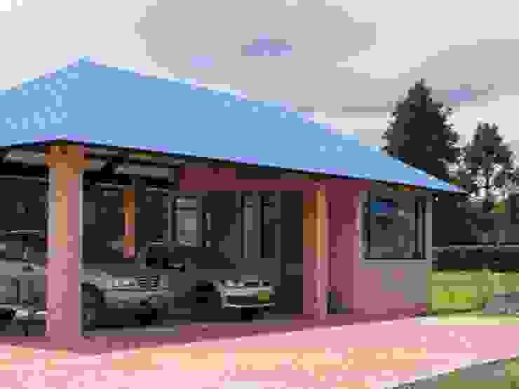Casazul Garajes de estilo rural de V&V Arquitectos SAS Rural