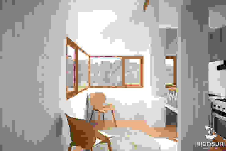 Refugio Chan Chan NidoSur Arquitectos - Valdivia Oficinas y bibliotecas de estilo moderno