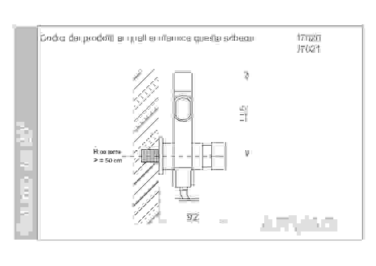 Scheda tecnica ARVAG SRL Bagno moderno Rame / Bronzo / Ottone Nero