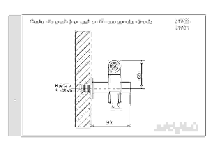 ARVAG SRL Balcón Cobre/Bronce/Latón Metálico/Plateado