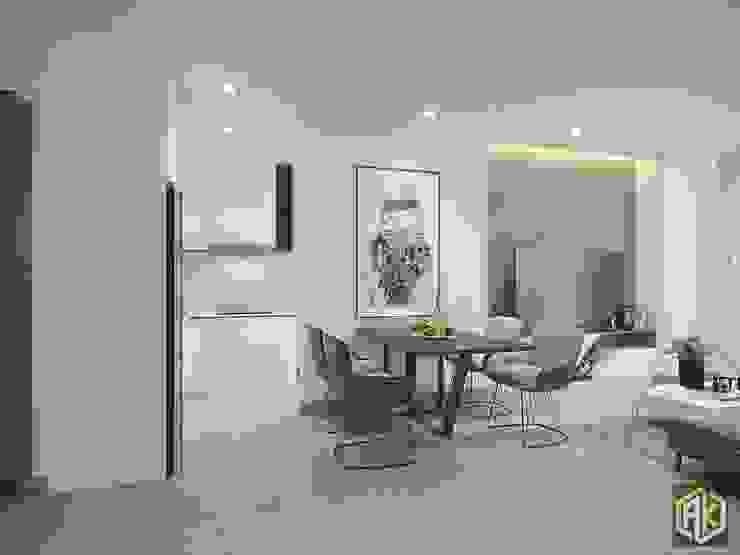 Thiết kế nội thất chung cư 70m2 bởi Công ty TNHH Tư vấn thiết kế xây dựng An Khoa