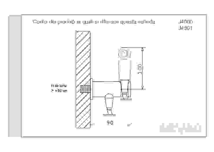 ARVAG SRL Baños de estilo minimalista Cobre/Bronce/Latón Marrón