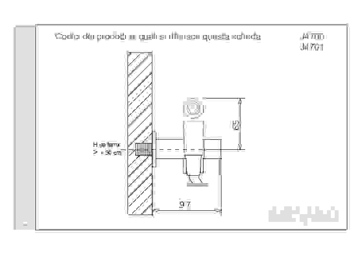 ARVAG SRL Baños de estilo moderno Cobre/Bronce/Latón Marrón