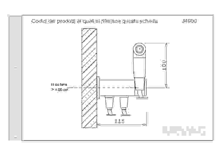 Scheda tecnica ARVAG SRL Bagno moderno Rame / Bronzo / Ottone Metallizzato/Argento