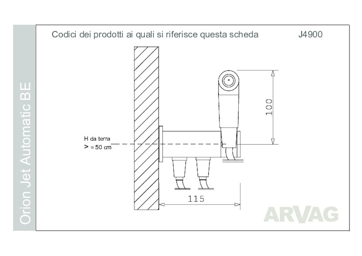 ARVAG SRL Baños de estilo moderno Cobre/Bronce/Latón Metálico/Plateado