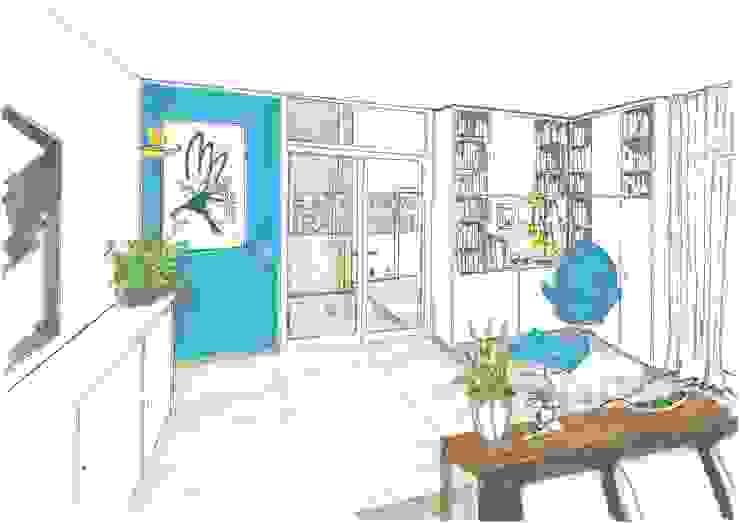Heike Schauz - Farbe & Feng Shui Living room Blue