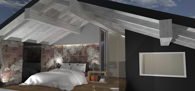 casa in Toscana Camera da letto moderna di Interior Design Stefano Bergami Moderno